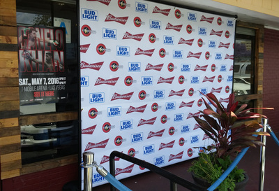Step and Repeat Backdrop Rental San Diego