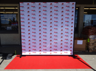 San Diego Step and Repeat Backdrop stand rental.