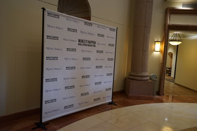 Step and Repeat backdrop stand rental San Diego